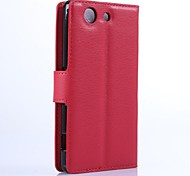 PU Leather Wallet Phone Case for Sony Sony Z4 Compact/Sony Z4 mini / Z4 / Z1 Mini / M2 / Z3 Compact