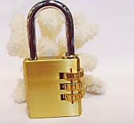 Luggage LockForLuggage Accessory Metal Gold 7.9*3.8*1.2