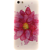 Big Red Flower Pattern TPU + IMD Material Phone Case for iPhone SE / 5s / 5