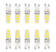 5W G9 Luces LED de Doble Pin T 16 SMD 5730 300 lm Blanco Cálido / Blanco Fresco Impermeable V 10 piezas