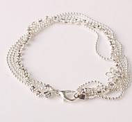 Women's Anklet/Bracelet Alloy Rhinestone Simulated Diamond Unique Design Fashion Jewelry Silver Women's JewelryParty Daily Casual