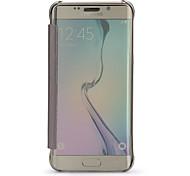 Para Funda Samsung Galaxy con Ventana / Espejo / Flip / Transparente Funda Cuerpo Entero Funda Un Color Policarbonato Samsung S6 edge
