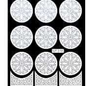 Nail Art Template Sticker-(NF316-White)