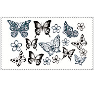 Fashion Temporary Tattoos Butterfly Sexy Body Art Waterproof Tattoo Stickers 5PCS (Size: 2.36'' by 4.13'')