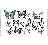 мода Временные татуировки бабочки сексуальное боди-арт водонепроницаемый наклейки татуировки 5pcs (размер: 2,36 '' от 4,13 '')