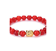 New Arrival Nature Agate Buddha Head Bead Bracelet #YMGS1011