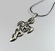 Flame Cross Pendant Necklace