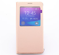 View Window Flip Leather Skin Case Cover for Samsung Galaxy Note 5(Assorted Colors)