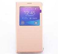 Para Samsung Galaxy Note con Soporte / con Ventana Funda Cuerpo Entero Funda Un Color Cuero Sintético Samsung Note 5