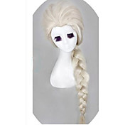 reina de la nieve elsa princesa cosplay pelucas pelucas rubias chicas luz