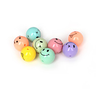 Beadia 30Pcs Mixed Colors Acrylic Beads 16mm Round Smiling Face Plastic Spacer Beads (2mm Hole)