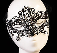 Black Sexy Lady Lace Mask Cutout Eye Mask for Masquerade Party Fancy Dress Costume