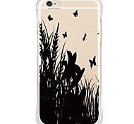 zurück Wasserdichte / Stoßfest / Transparent Schmetterling TPU WeichBack Shockproof/Waterproof/Transparent TPU Soft Butterfly Case Cover