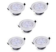 5W Luces Empotradas Descendentes Luces Empotradas 5 LED de Alta Potencia 550 lm Blanco Cálido Blanco Fresco AC 85-265 V 5 piezas