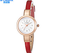 SYNOKE Women's Fashion Watch Quartz Water Resistant / Water Proof Leather Band Casual Black White Red Brown Pink