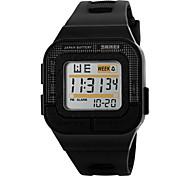 SKMEI Unissex Relógio Esportivo Relogio digital Digital LED Calendário Cronógrafo Impermeável alarme Luminoso Cronômetro PU Banda Legal