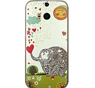 For HTC Case Embossed Case Back Cover Case Elephant Hard PC HTC