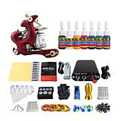 mini-potência bobina equipamentos ternos máquina pacote de tatuagem (entrega aleatória cor do punho)