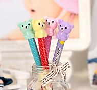 симпатичная форма автоматический карандаш студент плюшевого мишку головы любимые игрушки корейское канцелярские