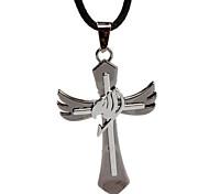 dx124 colliers fée queue, pendentif croix, étudiants collier de personnalité