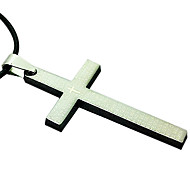 Man Necklace, Stainless Steel Accessories - Stainless Steel Plate Cross