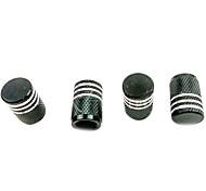 4 piezas de aluminio del color de la industria automotriz válvula del neumático tapa contra el polvo tapa protectora