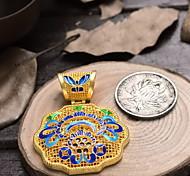 Enamel Flowers Copper Pendant for DIY Jewelry