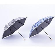 Precision Fiber Skeleton Folded Umbrella Japanese Porcelain