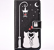 Cat Lovers Painted Card Holder Wallet PU Leather Phone Case for Galaxy A3(2016)