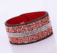 Unisex Chain/Fashion Gravel Rhinestone Shine Bracelet Resin Rhinestone