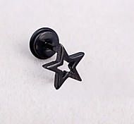 Cute Star Hollowed Screw Back Stud Earrings