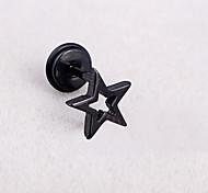 Cute Star Hollowed Screw Back Stud Earrings