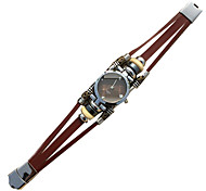 Men's Vintage Fashion Leather Band Quartz Watch