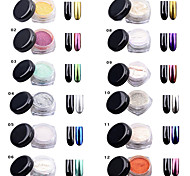 Sequins Mirror Chrome Effect Glitter Dust Magic Shimmer Nail Art Powder Decoration Tips Sequins Chrome Pigment Glitters