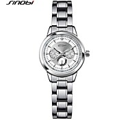 SINOBI® Women''s Fashion Dress Watch Alloy Sliver Band Black Quartz Watch Ladies Wrist Watch Bracelet Watch