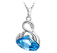Necklace Pendant Necklaces / Pendants Jewelry Daily / Casual Fashionable Crystal Yellow / Blue / Pink 1pc Gift
