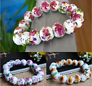 Women's China Ceramic Style Strand Bracelet Christmas Gifts