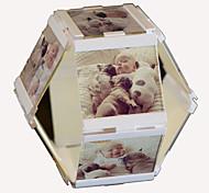 "2016 New Arrival Leggyhorse 4"" x 4"" Flexible Transparent Acrylic Photo Frame Set,White/Black Color, Set of 2 Frames"
