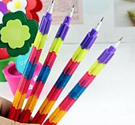 papeterie korean section déformable de crayon de couleur arc-en-créative multifonction bullet 8 prix 1pc