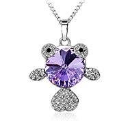 Women's Pendant Necklaces Pendants Crystal Crystal Fashion Purple Blue Pink Jewelry Daily Casual 1pc