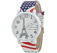 Women's Classic Digital Paris Tower Analog Display Quartz Watch