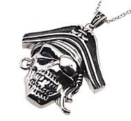 316L Stainless Steel Pendant Pirate Skull