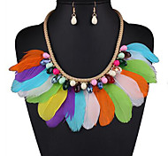 Collar / pendientes estilo de Bohemia LED 7-Colores LED Azul Collares Pendientes Para Fiesta Diario Casual 1 Set Regalos de boda