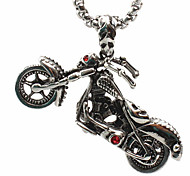 Icons of Locomotive Motor Titanium Steel Necklace Pendant (Excluding Chain)