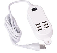 6 USB Ports Multi Ports Home Charger with Cable For iPad / For Cellphone / For iPhone