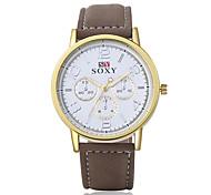cuir de mode de quartz montres-bracelets analogique de montres hommes occasionnels relogio masculino style d'affaires fraîche regarder