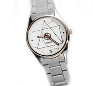 Women's Fashion Watch Casual Watch Quartz Stainless Steel Band Silver