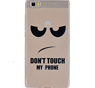 Don't touch my cell phone Pattern TPU Phone Case for Huawei P8 Lite