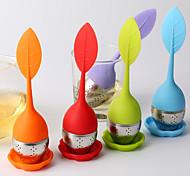 Creative Kitchen Gadget / Melhor qualidade / Alta qualidade Steel Tea Strainers Silicone 15*4*4