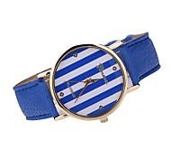 Damen Modeuhr Japanischer Quartz Armbanduhren für den Alltag Leder Band Armbanduhr / Armband Schwarz / Weiß / Braun / Mehrfarbig